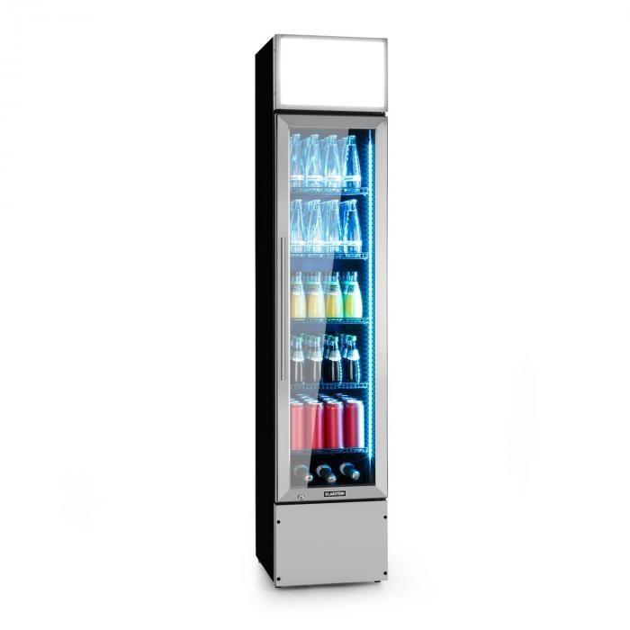 Klarstein Berghain, frigider pentru băuturi, 160 litri, iluminare interioară RGB, 230 W, 2 – 8 °C, oțel inoxidabil