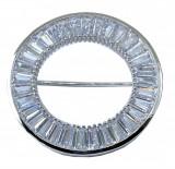 Brosa Circle Crystal Baguette