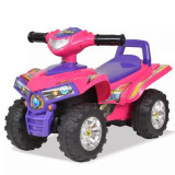 ATV de plimbare pentru copii cu sunet și lumină roz și violet