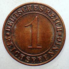 C.068 GERMANIA WEIMAR 1 REICHSPFENNIG 1930 E RARA