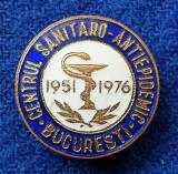 Insigna medicina Centrul sanitaro - Antiepidemic Bucuresti 1951-1976 - SUPERBA