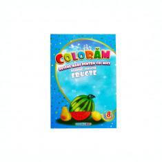 Carte de colorat educativa: fructe, B5 16 pagini Eurobookids