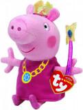 Jucarie de plus TY 15 cm - Peppa Pig - Printesa