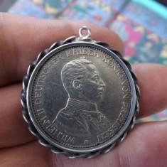 Moneda germana din argint.Drei mark 1914.Perfecta.