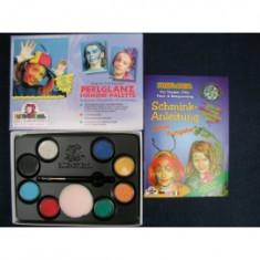 Set 8 culori perlate pentru face painting