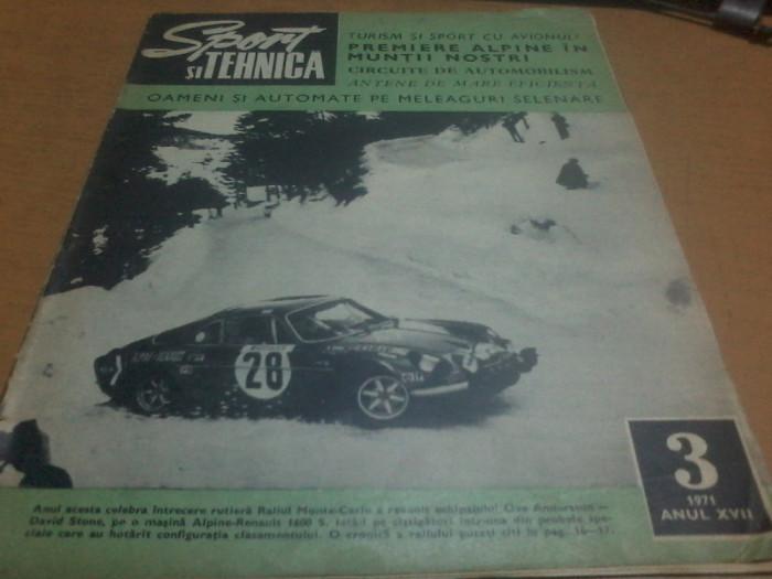 Sport si tehnica nr. 3 1971 anul XVII