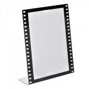 Rama foto, actual investing, 10×15 cm, alb/negru