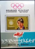 SHARJAH 1968 - SPORT. GRENOBLE, COLITA DT MNH, DG4, Nestampilat
