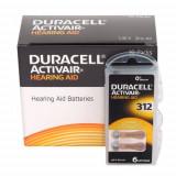 Baterii Duracell 312 pentru aparate auditive , 60 baterii / set