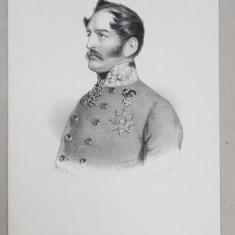CARL FURST SCHWARZENBERG , GRAVURA PE METAL de J. HOFELICH , TIPARITA LA SIBIU , SEC. XIX