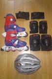 Patine rotile cu echipament de protectie marca Oxelo 32-34, Patine cu rotile, 31 - 34, Unisex