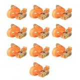 Cumpara ieftin Chingi fixare cu clichet, 10 buc, 0,4 tone, 6mx25mm, portocaliu