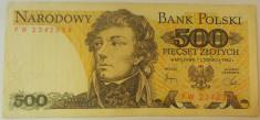 Bancnota COMUNISTA 500 ZLOTI - POLONIA, anul 1982 *cod 352 foto