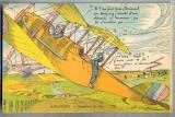 AX 74 CP VECHE INTERBELICA -UMORISTICA MILITARA -AVIATIE - BOTEZUL AERULUI, Franta, Necirculata, Printata