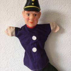 Marioneta teatru de papusi, papusa manuala, soldat, catana, garda, politist