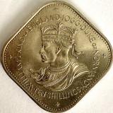GUERNSEY 10 SHILLING/SHILLINGS 1966,-ELIZABETH II-WILLIAM I.,,KM#19