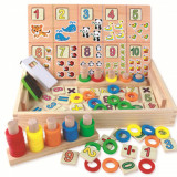 Tabla educativa Montessori cu cifre.