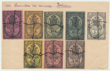 ROMANIA 1883 Camera de Comert Braila 8 timbre fiscale foarte rare, anulate, Istorie, Stampilat