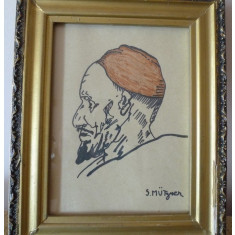 SAMUEL MUTZNER Tablu pictor roman portret grafica