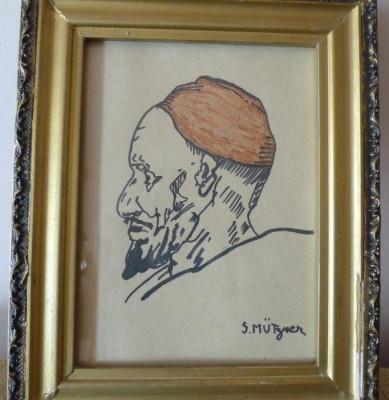 SAMUEL MUTZNER Tablu pictor roman portret grafica foto
