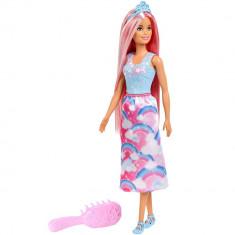 Papusa Barbie Mattel Dreamtopia cu perie