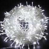 Instalatie luminoasa pentru Craciun, 20 metri, cu 8 jocuri de lumini, alb rece