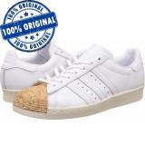Pantofi sport Adidas Originals Superstar 80 Cork pentru femei -adidasi originali, 38, Alb, Piele naturala
