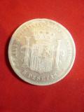 Moneda 5 pesetas 1871 Rege Amadeo argint cal.F.Buna Spania
