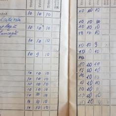 Pentru colectionari,  carnet de elev clasele V-VIII anii 80