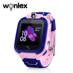 Ceas Smartwatch Pentru Copii Wonlex GW600S cu Functie Telefon, Localizare GPS, Monitorizare somn, Camera, Pedometru, SOS, IP54 - Roz, Cartela SIM Cado