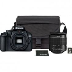 Aparat foto DSLR Canon EOS 4000D,18.0 MP, Negru + Obiectiv EF-S 18-55mm F/3.5-5.6 III Negru + Geanta + Card de memorie 16 GB