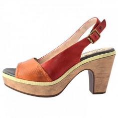 Sandale dama, din piele naturala, Pikolinos, 8839610-11, orange