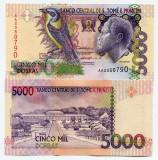 = SAINT THOMAS AND PRINCE –5 000–DOBRAS–1996 –UNC =