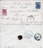 Russia 1896 Postal History Rare Cover Uprated to Berlin Germany D.1066