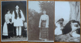 3 carti postale interbelice , costume populare romanesti , 2
