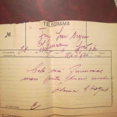 3 Telegrame trimise Sidonia Hogas, H.F. Rotman, L. Cugler fam L Mrejeru, Neamț