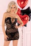 Cumpara ieftin LIV13-1 Desu sexy cu insertii din piele ecologica - Livia Corsetti, L/XL, S/M