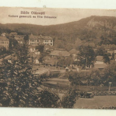 cp Baile Olanesti : Vedere generala cu Vila Olanescu - anii 1930