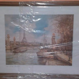 Rama foto, cadou foto peisaj Paris, Peisaje, Pastel, Altul