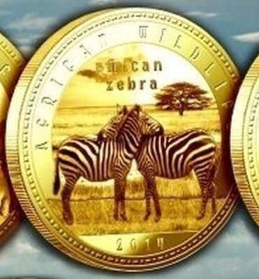Zambia 1000 Kwacha 2014 UNC Zebra 40mm Auriu foto