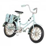 Macheta Bicicleta Retro din metal albastru 16 cm x 5 cm x 10 h, Clayre & Eef