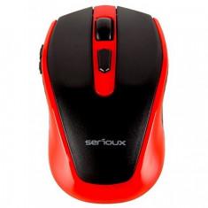 Mouse Pastel 600, fara fir, USB, rosu
