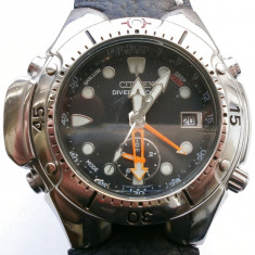 RARE JAPAN CITIZEN Promaster AIR DIVER 200m ALTIMETRU Aqualand  AUTOMATIC