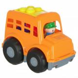 Autobuz cu Cuburi, Actual Investing, 7 piese, portocaliu