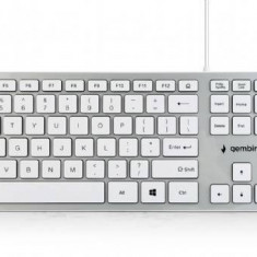 """Tastatura Gembird Chocolate Keyboard, US layout, white """"KB-MCH-02-W"""""""