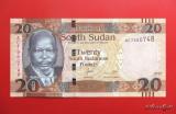 SUDANUL  DE  SUD  -  20 South Sudanese Pounds 2015  -  UNC