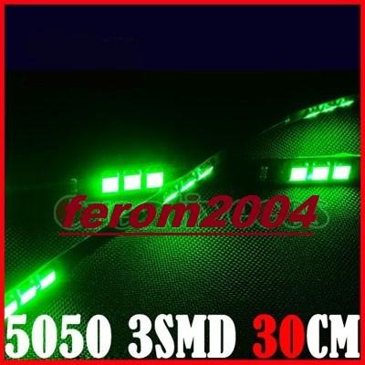 Banda led, de culoare verde, 30 cm, 15 led-uri smd 5050, rezistenta la apa