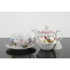 Set ceai cu cana si ceainic pentru o persoana
