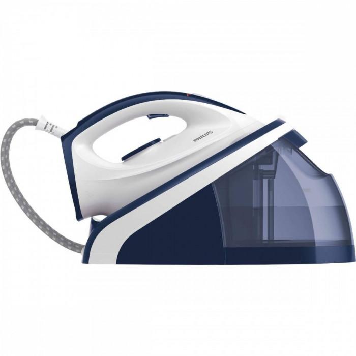 Statie de calcat Philips HI5916/20 Decalcifiere Smart Calc Clean 2400W Alb / Albastru