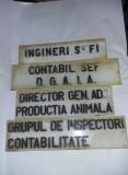 Placi/inscriptii/reclama/titulaturi vechi usi pentru INTREPRINDERI,T.GRATUIT